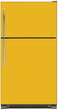 Load image into Gallery viewer, School Bus Yellow Color Magnet Skin on Model Type Top Freezer Refrigerator