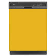 Load image into Gallery viewer, School Bus Yellow Color Magnet Skin on Black Dishwasher