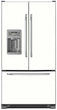 Load image into Gallery viewer, Semi Gloss White Color Magnet Skin on Model Type French Door Refrigerator with Ice Maker Water Dispenser