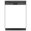 Load image into Gallery viewer, Semi Gloss White Color Magnet Skin on Black Dishwasher