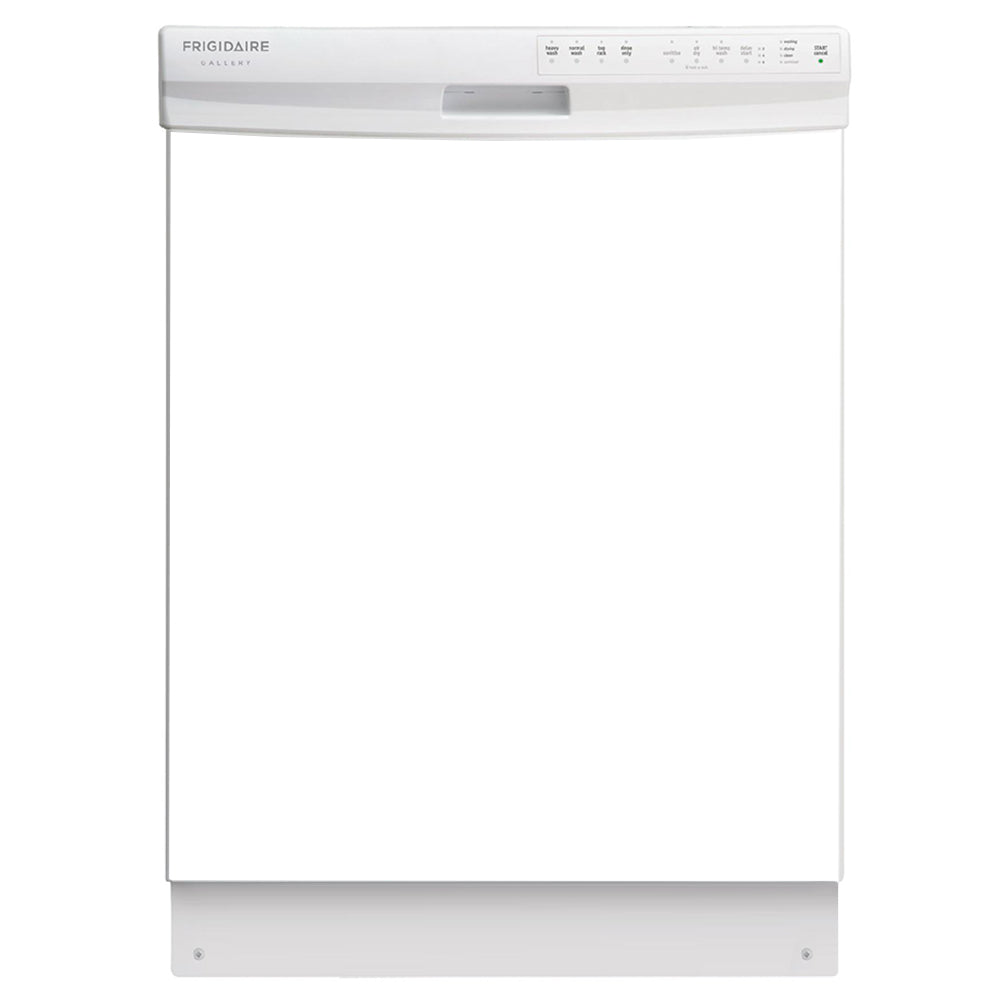 Semi Gloss White Color Magnet Skin on White Dishwasher