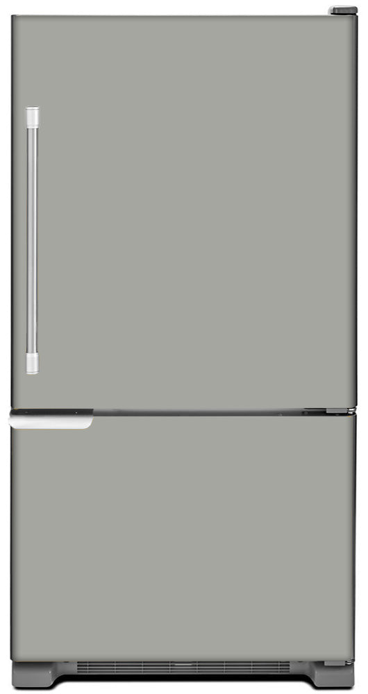 Shark Gray Color Magnet Skin on Model Type Bottom Freezer Refrigerator