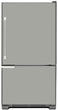 Load image into Gallery viewer, Shark Gray Color Magnet Skin on Model Type Bottom Freezer Refrigerator
