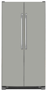 Shark Gray Color Magnet Skin on Model Type Side by Side Refrigerator