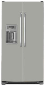 Shark Gray Color Magnet Skin on Model Type Side by Side Refrigerator with Ice Maker Water Dispenser