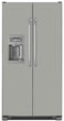 Load image into Gallery viewer, Shark Gray Color Magnet Skin on Model Type Side by Side Refrigerator with Ice Maker Water Dispenser