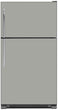 Load image into Gallery viewer, Shark Gray Color Magnet Skin on Model Type Top Freezer Refrigerator