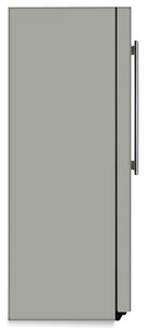 Shark Gray Color Magnet Skin on Side of Refrigerator
