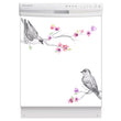 Load image into Gallery viewer, Song Birds Magnet Skin on White Dishwasher