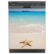 Load image into Gallery viewer, Starfish On Beach Magnet Skin on Black Dishwasher
