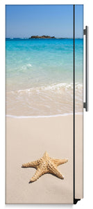Starfish On Beach Magnet Skin on Side of Refrigerator