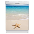 Load image into Gallery viewer, Starfish On Beach Magnet Skin on White Dishwasher
