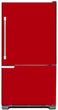 Load image into Gallery viewer, Stawberry Red Color Magnet Skin on Model Type Bottom Freezer Refrigerator