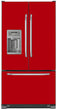 Load image into Gallery viewer, Strawberry Red Color Magnet Skin on Model Type French Door Refrigerator with Ice Maker Water Dispenser
