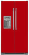Load image into Gallery viewer, Strawberry Red Color Magnet Skin on Model Type Side by Side Refrigerator with Ice Maker Water Dispenser