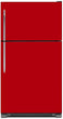 Load image into Gallery viewer, Strawberry Red Color Magnet Skin on Model Type Top Freezer Refrigerator