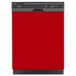 Load image into Gallery viewer, Strawberry Red Color Magnet Skin on Black Dishwasher