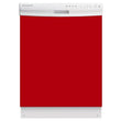 Load image into Gallery viewer, Strawberry Red Color Magnet Skin on White Dishwasher