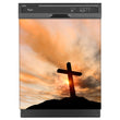 Load image into Gallery viewer, Sunrise Cross Magnet Skin on Black Dishwasher