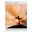 Load image into Gallery viewer, Sunrise Cross Magnet Skin on White Dishwasher