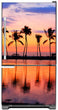 Load image into Gallery viewer, Sunset Palm Trees Magnet Skin on Model Type Bottom Freezer Refrigerator