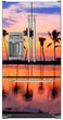 Load image into Gallery viewer, Sunset Palm Trees Magnet Skin on Model Type French Door Refrigerator with Ice Maker Water Dispenser