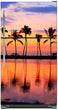 Load image into Gallery viewer, Sunset Palm Trees Magnet Skin on Model Type Top Freezer Refrigerator