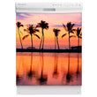 Load image into Gallery viewer, Sunset Palm Trees Magnet Skin on White Dishwasher