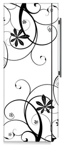 Swirling Flowers Magnet Skin on Side of Refrigerator