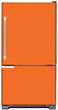 Load image into Gallery viewer, Tangerine Orange Color Magnet Skin on Model Type Bottom Freezer Refrigerator