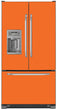Load image into Gallery viewer, Tangerine Orange Color Magnet Skin on Model Type French Door Refrigerator with Ice Maker Water Dispenser