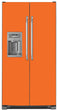 Load image into Gallery viewer, Tangerine Orange Color Magnet Skin on Model Type Side by Side Refrigerator with Ice Maker Water Dispenser