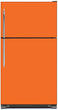 Load image into Gallery viewer, Tangerine Orange Color Magnet Skin on Model Type Top Freezer Refrigerator