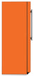 Load image into Gallery viewer, Tangerine Orange Color Magnet Skin on Side of Refrigerator