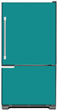 Load image into Gallery viewer, Teal Turquoise Color Magnet Skin on Model Type Bottom Freezer Refrigerator