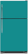 Load image into Gallery viewer, Teal Turquoise Color Magnet Skin on Model Type Top Freezer Refrigerator
