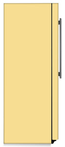 Vanilla Cream Color Magnet Skin on Side of Refrigerator