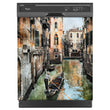 Load image into Gallery viewer, Venice Canals Magnet Skin on Black Dishwasher