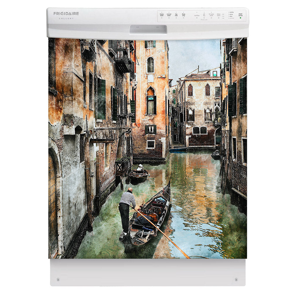 Venice Canals Magnet Skin on White Dishwasher