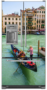 Venice Italy Magnet Skin on Model Type French Door Refrigerator with Ice Maker Water Dispenser