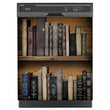 Load image into Gallery viewer, Vintage Books Bookcase Magnet Skin on Black Dishwasher
