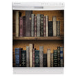 Load image into Gallery viewer, Vintage Books Bookcase Magnet Skin on White Dishwasher
