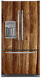 Load image into Gallery viewer, Weathered Wood Planks Magnet Skin on Model Type French Door Refrigerator with Ice Maker Water Dispenser
