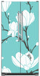 Load image into Gallery viewer, White Magnolias Magnet Skin on Model Type Side by Side Refrigerator
