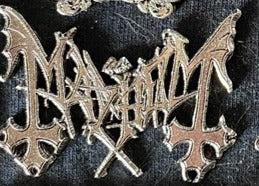 Mayhem Metal Badge