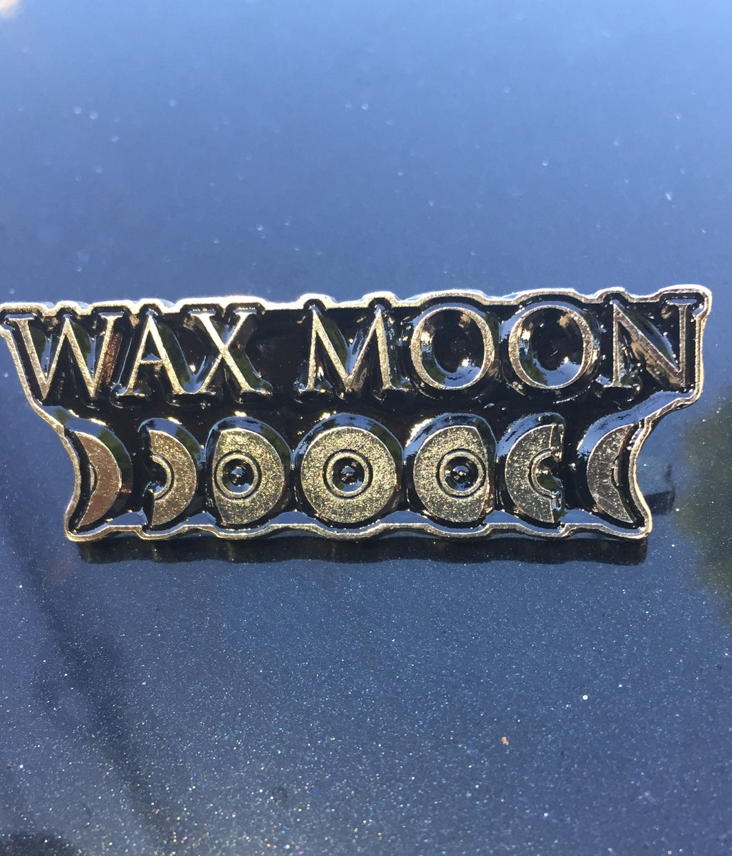 Wax Moon Metal Badge