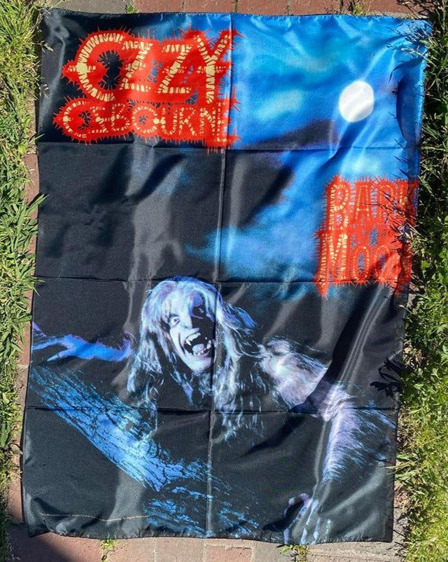 Ozzy Ozbourne Bark at the Moon Poster Flag