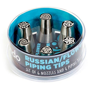 Mondo Russian/Flower Piping Tips 10pce