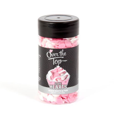 Over The Top Love Hearts - Mixed White & Pink 65g