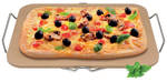 Pizza Stone Rectangular 30x38cm w/Rack